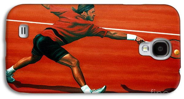 Volley Galaxy S4 Cases - Roger Federer Galaxy S4 Case by Paul  Meijering
