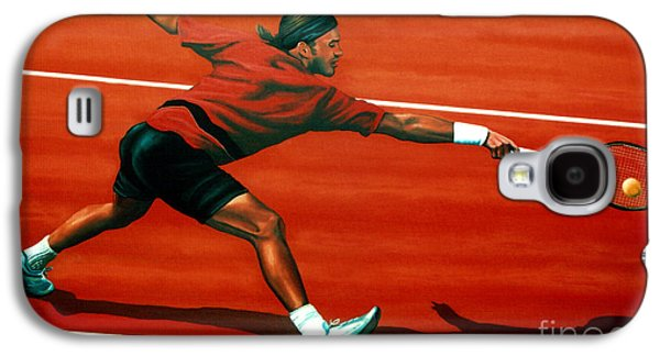 Roger Federer At Roland Garros Galaxy S4 Case by Paul Meijering