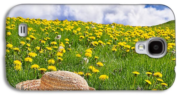 Landscapes Photographs Galaxy S4 Cases - Rolling dandelion meadow Galaxy S4 Case by Jo Ann Snover