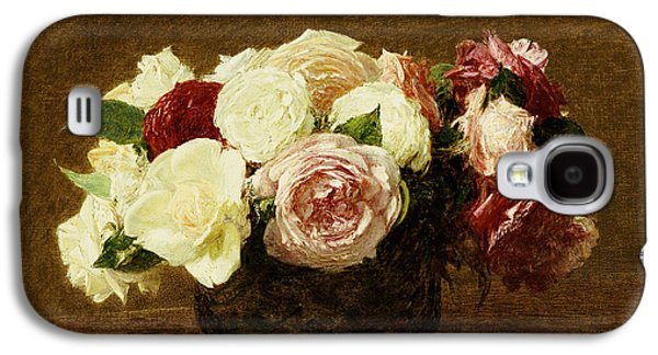 Flowers Galaxy S4 Cases - Roses Galaxy S4 Case by Ignace Henri Jean Fantin-Latour