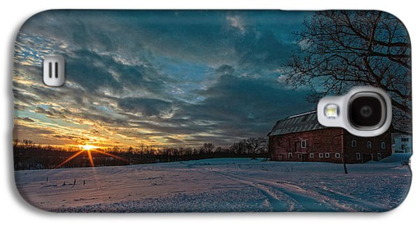 Red Barns Galaxy S4 Cases - Rural Sunset II Galaxy S4 Case by Everet Regal