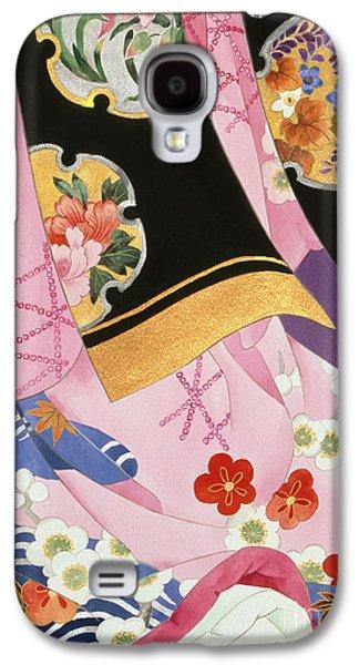 Purple Robe Galaxy S4 Cases - Sagi No Mai Galaxy S4 Case by Haruyo Morita
