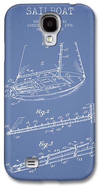 Sailboat Art Galaxy S4 Cases - Sailboat Patent from 1996 - Vintage Galaxy S4 Case by Aged Pixel