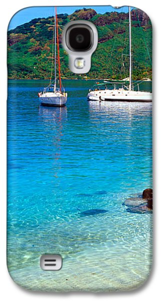 Sailboat Images Galaxy S4 Cases - Sailboats In The Ocean, Tahiti, Society Galaxy S4 Case by Panoramic Images