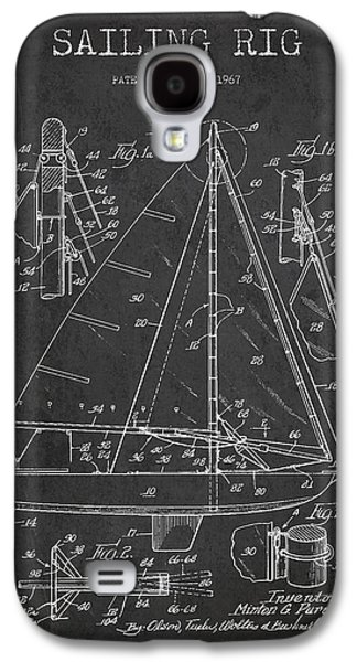 Sailboat Art Galaxy S4 Cases - Sailing Rig Patent Drawing From 1967 Galaxy S4 Case by Aged Pixel