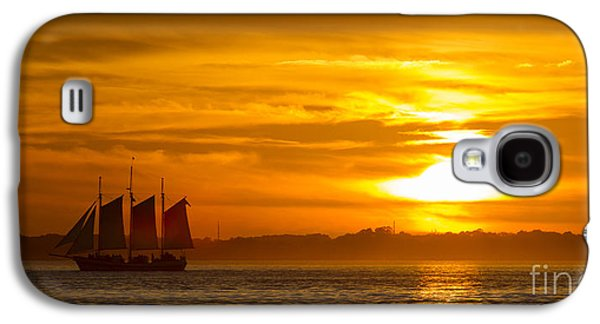 Tall Ship Galaxy S4 Cases - Sailing Yacht Schooner Pride Sunset Galaxy S4 Case by Dustin K Ryan