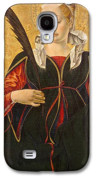 Renaissance Paintings Galaxy S4 Cases - Saint Lucy Galaxy S4 Case by Francesco del Cossa