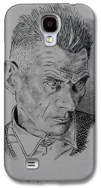 Pencil Galaxy S4 Cases - Samuel Beckett Galaxy S4 Case by John  Nolan