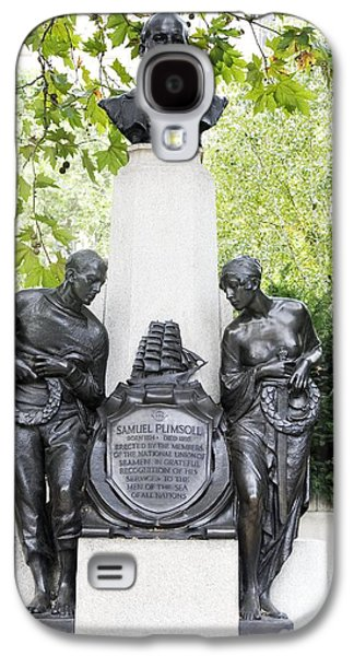 Statue Portrait Galaxy S4 Cases - Samuel Plimsoll Commemorative Monument Galaxy S4 Case by Sheila Terry