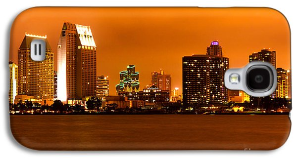 Business Galaxy S4 Cases - San Diego Skyline at Night Galaxy S4 Case by Paul Velgos