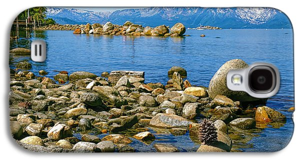 Beach Landscape Galaxy S4 Cases - Sand Harbor Lake Tahoe Galaxy S4 Case by LeeAnn McLaneGoetz McLaneGoetzStudioLLCcom