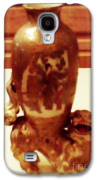 Ceramic Ceramics Galaxy S4 Cases - Satsuma Foo Dog Galaxy S4 Case by Steven  Pipella