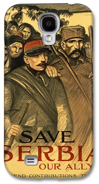 Raising Galaxy S4 Cases - Save Serbia Our Ally Galaxy S4 Case by Theophile Alexandre Steinlen