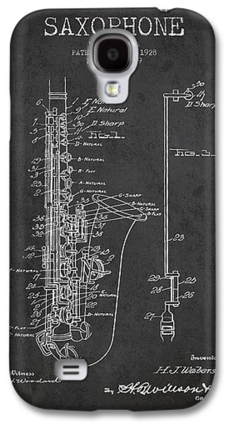 Saxophone Patent Drawing From 1928 Galaxy S4 Case by Aged Pixel