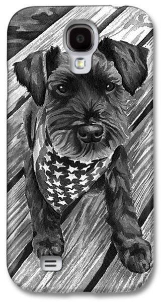 Independence Day Paintings Galaxy S4 Cases - Ragnar Black Dog Galaxy S4 Case by Robyn Saunders