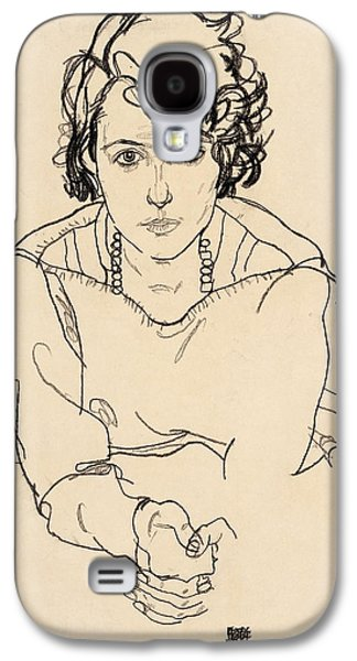 Austria Drawings Galaxy S4 Cases - Seated Woman Galaxy S4 Case by Celestial Images