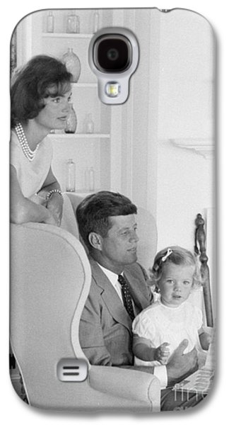 Senator John F. Kennedy With Jacqueline And Caroline Galaxy S4 Case by The Phillip Harrington Collection
