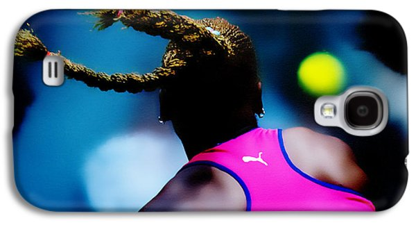 Slam Galaxy S4 Cases - Serena Williams Return Galaxy S4 Case by Brian Reaves