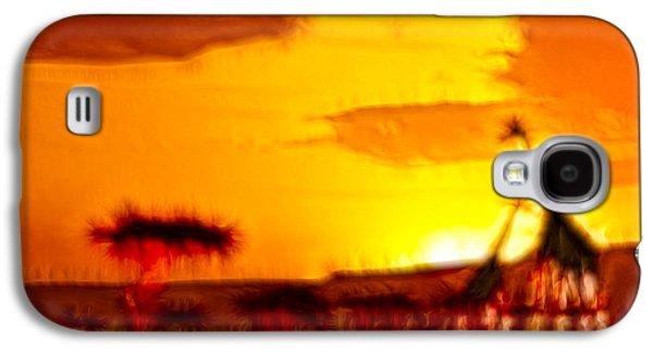Sun Galaxy S4 Cases - Serengeti Sunset Galaxy S4 Case by Sebastian Musial