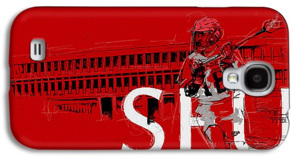 Goalkeeper Paintings Galaxy S4 Cases - SFU Art Galaxy S4 Case by Catf