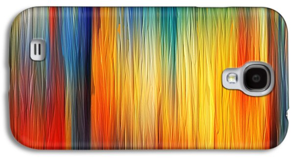 Sunset Abstract Paintings Galaxy S4 Cases - Shades Of Emotion Galaxy S4 Case by Lourry Legarde