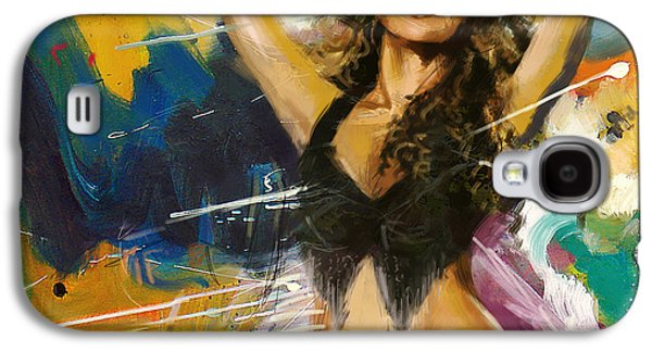 Shakira Paintings Galaxy S4 Cases - Shakira Galaxy S4 Case by Corporate Art Task Force