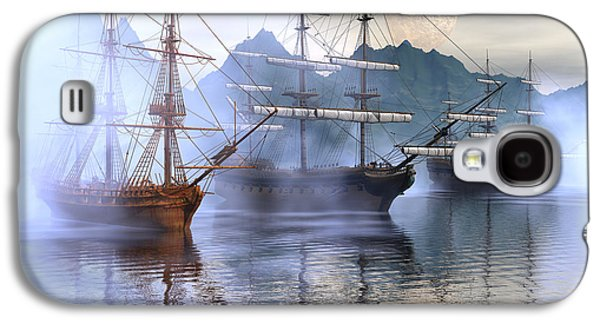 Tall Ship Galaxy S4 Cases - Shelter harbor Galaxy S4 Case by Claude McCoy