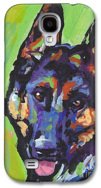German Shepherd Galaxy S4 Cases - Sheppy Galaxy S4 Case by Lea