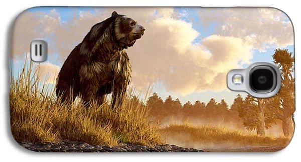 Bear Digital Galaxy S4 Cases - Short Faced Bear Galaxy S4 Case by Daniel Eskridge