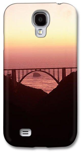 Bixby Bridge Galaxy S4 Cases - Silhouette Of A Bridge At Sunset, Bixby Galaxy S4 Case by Panoramic Images