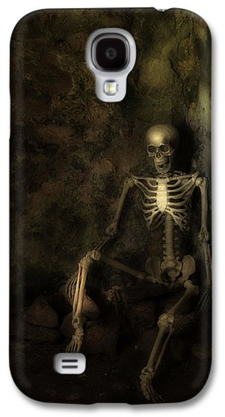 Creepy Galaxy S4 Cases - Skeleton Galaxy S4 Case by Amanda And Christopher Elwell