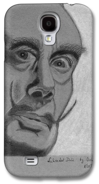20th Drawings Galaxy S4 Cases - Sketch of Salvador Dali Galaxy S4 Case by Ashok Naraian