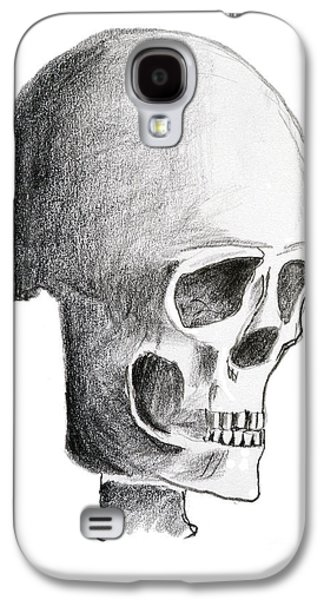 Creepy Drawings Galaxy S4 Cases - Skull Galaxy S4 Case by Michal Boubin