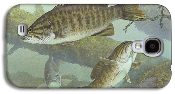 Blood Drawings Galaxy S4 Cases - Smallmouth Bass Galaxy S4 Case by Mountain Dreams