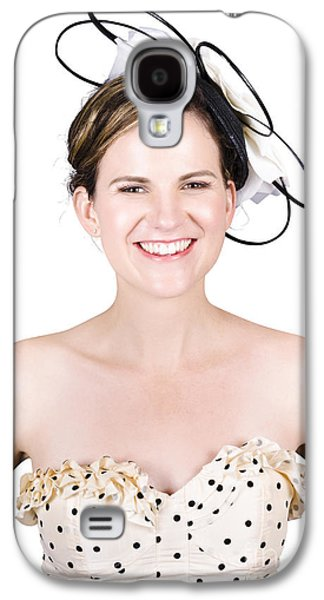 Strapless Dress Galaxy S4 Cases - Smiling Young Happy Woman Galaxy S4 Case by Ryan Jorgensen