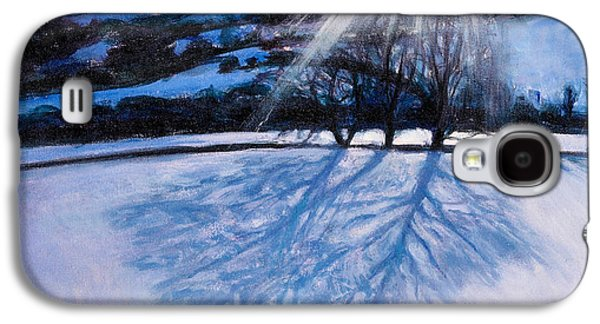 Winter Light Paintings Galaxy S4 Cases - Snow Shadows Galaxy S4 Case by Tilly Willis
