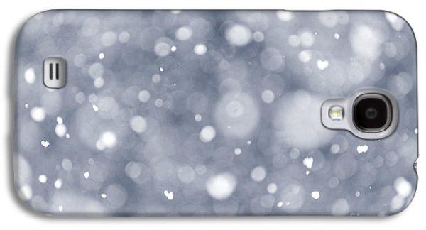 Stormy Weather Galaxy S4 Cases - Snowfall  Galaxy S4 Case by Elena Elisseeva