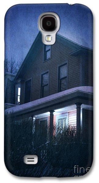 Creepy Galaxy S4 Cases - Snowy Night Galaxy S4 Case by HD Connelly