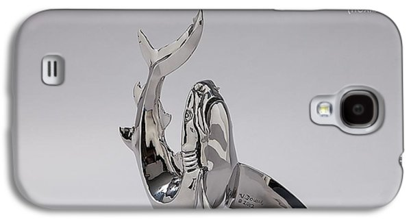 Sharks Sculptures Galaxy S4 Cases - Souplesse Galaxy S4 Case by Victor Douieb