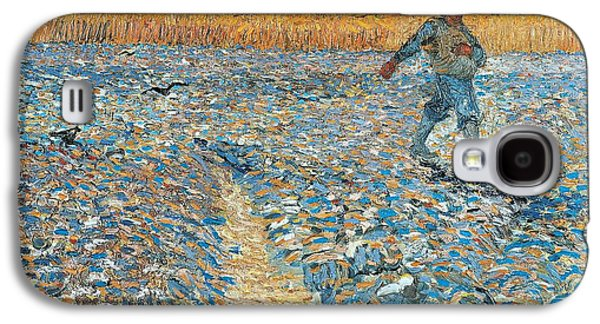 Crows Paintings Galaxy S4 Cases - Sower Galaxy S4 Case by Vincent van Gogh