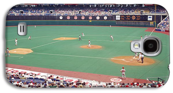 Veterans Stadium Galaxy S4 Cases - Spectator Watching A Baseball Match Galaxy S4 Case by Panoramic Images