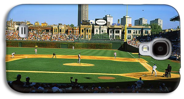 Sports Photographs Galaxy S4 Cases - Spectators In A Stadium, Wrigley Field Galaxy S4 Case by Panoramic Images