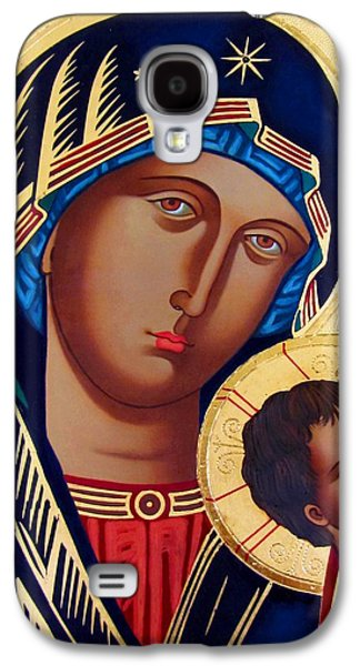 Orthodox Icon Galaxy S4 Cases - Speechless Galaxy S4 Case by Munir Alawi