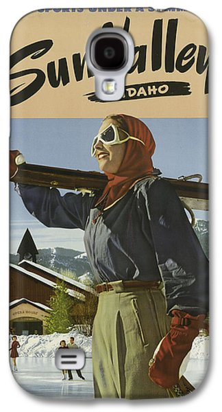 Skiing Posters Paintings Galaxy S4 Cases - Sports Posters Galaxy S4 Case by Vintage