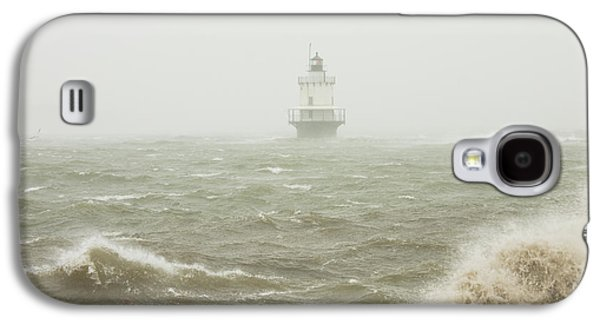 Maine Shore Galaxy S4 Cases - Spring Point Ledge Lighthouse in Storm in Portland Maine Galaxy S4 Case by Keith Webber Jr