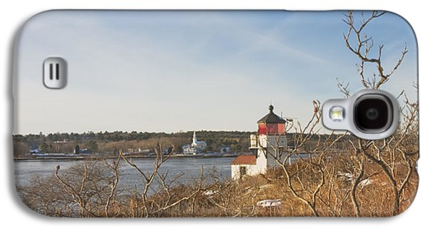 Maine Lighthouses Galaxy S4 Cases - Squirrel Point Lighthouse Kennebec River Maine Galaxy S4 Case by Keith Webber Jr