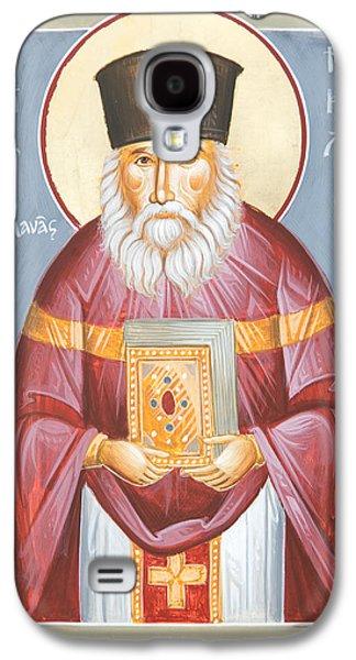 Greek Icon Paintings Galaxy S4 Cases - St Nicholas Planas Galaxy S4 Case by Julia Bridget Hayes
