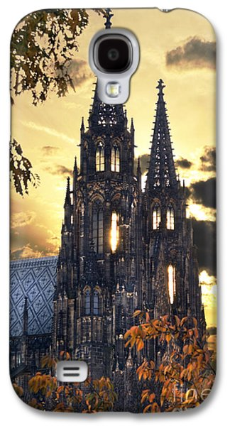 View Pyrography Galaxy S4 Cases - St Vitus Church in Hradcany Prague Galaxy S4 Case by Jelena Jovanovic