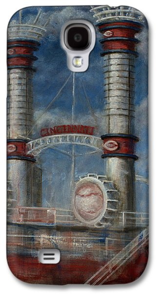 Baseball Stadiums Paintings Galaxy S4 Cases - Stacks Galaxy S4 Case by Josh Hertzenberg