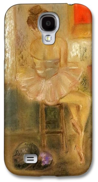 Ballet Dancers Pastels Galaxy S4 Cases - Stage Left Galaxy S4 Case by C Pichura